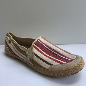 UGG Multi Color Canvas Loafers Flats Size 7.5